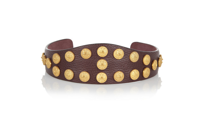 Beauty Line by Beauty Diaries - Valentino Embellished textured-leather headband