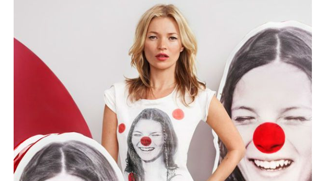 Beauty Diaries for Beauty Line-Kate Moss and David William for Red Nose Day