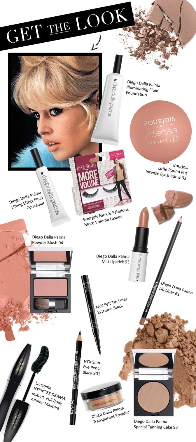 Beauty Diaries by Beauty Line - Get the Look Brigitte Bardot
