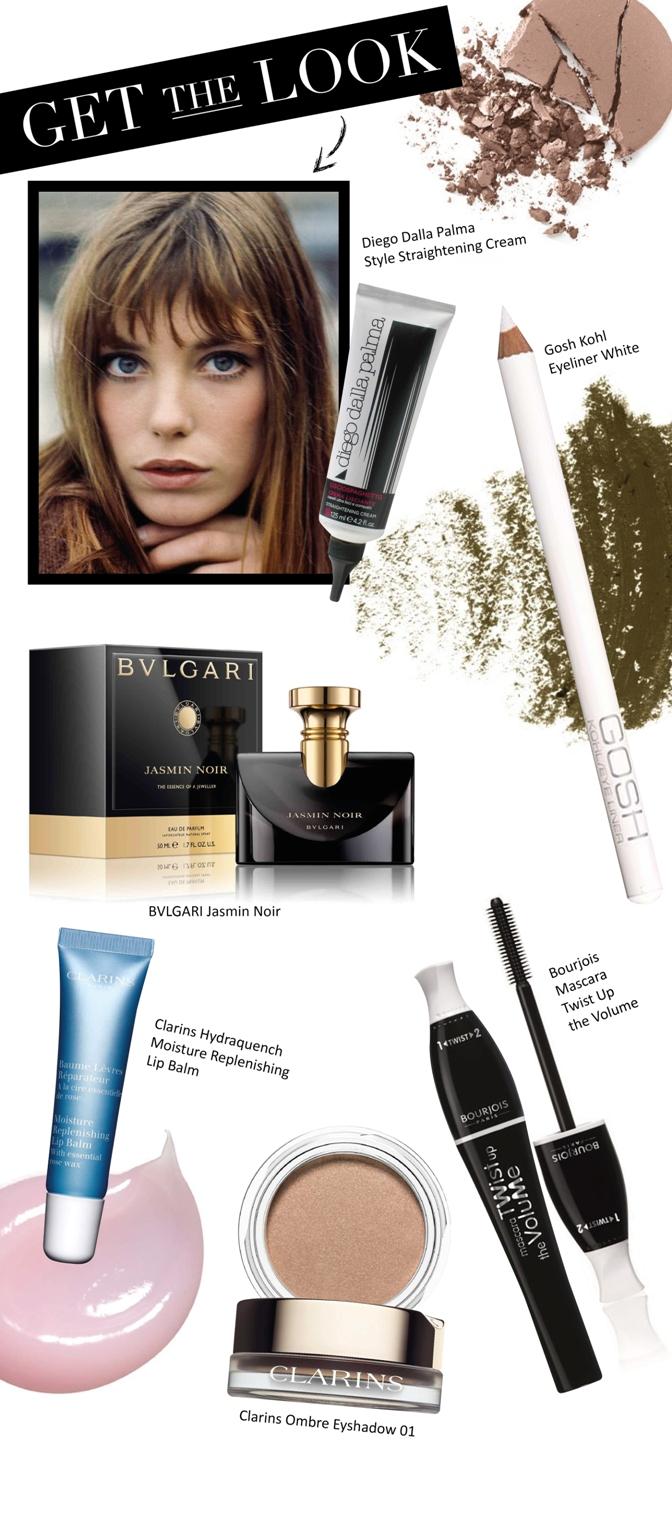 Beauty Diaries by Beauty Line - Jane Birkin Get the Look