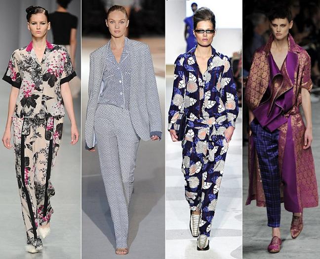 Pyjamas catwalk