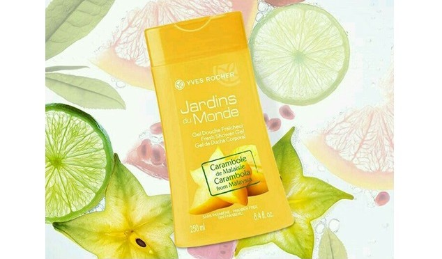 Beauty Diaries by Beauty Line - Carambola from Malaysia Fresh Shower Gel YVES ROCHER