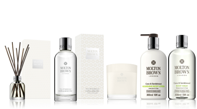 Beauty Diaries by Beauty Line - Molton Brown Coco and Sandalwood Collection.